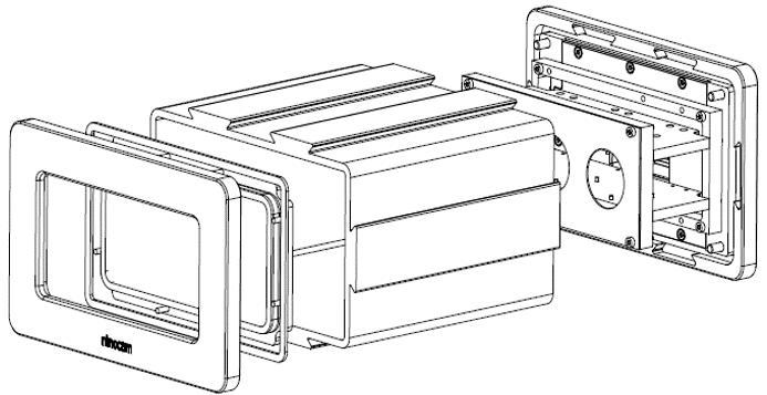 Konstruktionszeichnung des Gehäuses eines 3D-Scanners