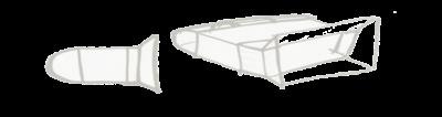 Bleistift-Skizze eines flachen Gehäuses für eine 3D-Kamera