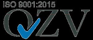 Logos für die QVZ ISO 9001 und die QVZ ISO 14001 Zertifizierung
