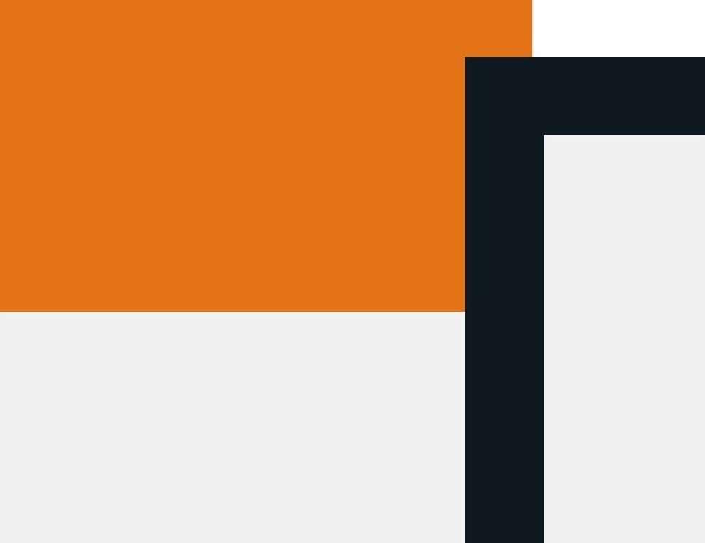 Abstrakte Formen in orange und dunkelgrauer auf weißem Hintergrund