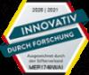 Siegel Innovativ durch Forschung 2020 / 2021 vom Stifterverband